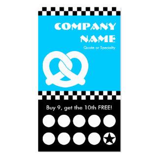 tarjeta perforada de los inspectores del pretzel tarjetas de visita