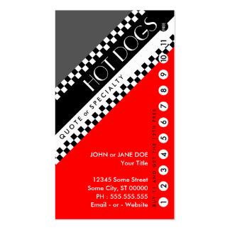 tarjeta perforada de los perritos calientes: (la tarjetas de visita