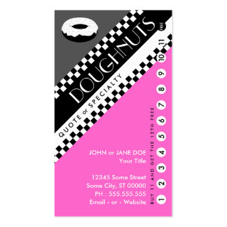 tarjeta perforada del buñuelo la compra 11 consi plantilla de tarjeta personal