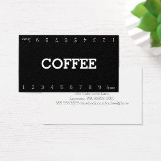 Tarjeta De Visita Tarjeta perforada doble simple del café de la