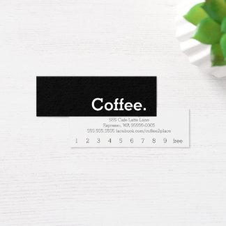 Tarjeta perforada oscura del café de la lealtad de