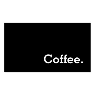 Tarjeta perforada oscura del café de la lealtad de tarjeta de negocios