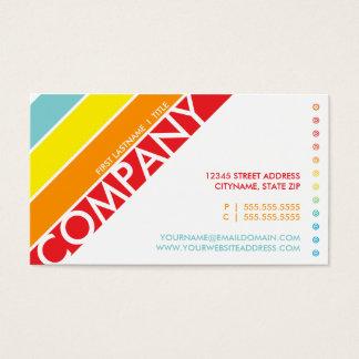 tarjeta perforada retra de la diana del arco iris