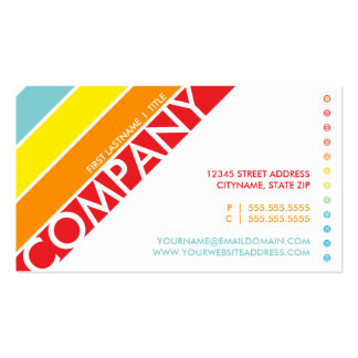 tarjeta perforada retra de la diana del arco iris plantillas de tarjeta de negocio