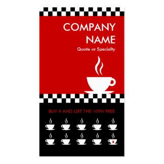 tarjeta perforada retra de los inspectores del caf tarjeta de visita
