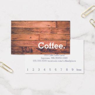 Tarjeta perforada simple del café de la lealtad