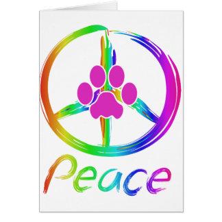Tarjeta Perrito de la paz