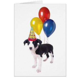 Tarjeta perrito del cumpleaños