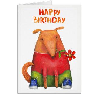 Tarjeta Perrito del feliz cumpleaños con el espacio en