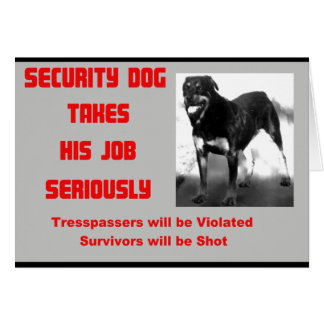 Tarjeta Perro adaptable de la seguridad