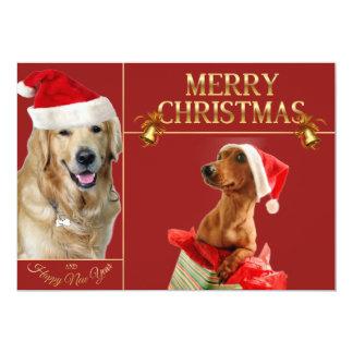 Tarjeta Perro-Dachshund santa de Labrador navidad-santa