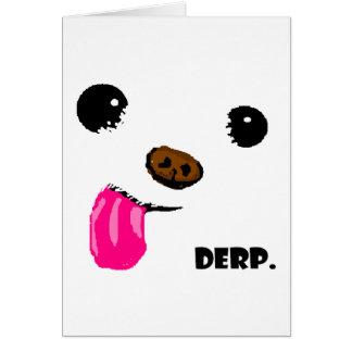 Tarjeta Perro de Derp