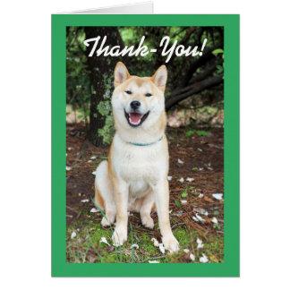 Tarjeta Perro del de agradecimiento