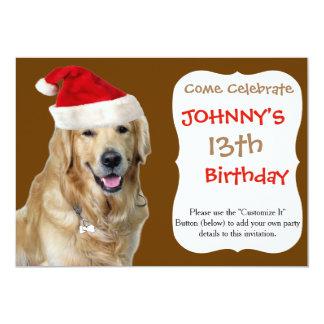 Tarjeta Perro-mascota de Labrador navidad-santa Claus
