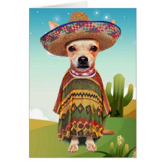 Tarjeta Perro mexicano, chihuahua