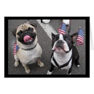 Tarjeta Perros patrióticos