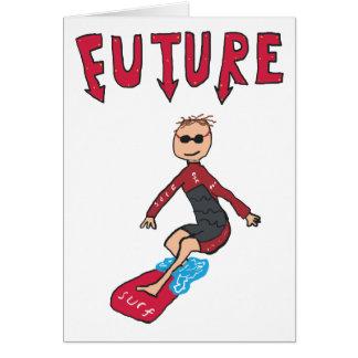 Tarjeta Persona que practica surf futura