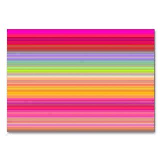 Tarjeta Personalice - el fondo multicolor de la pendiente