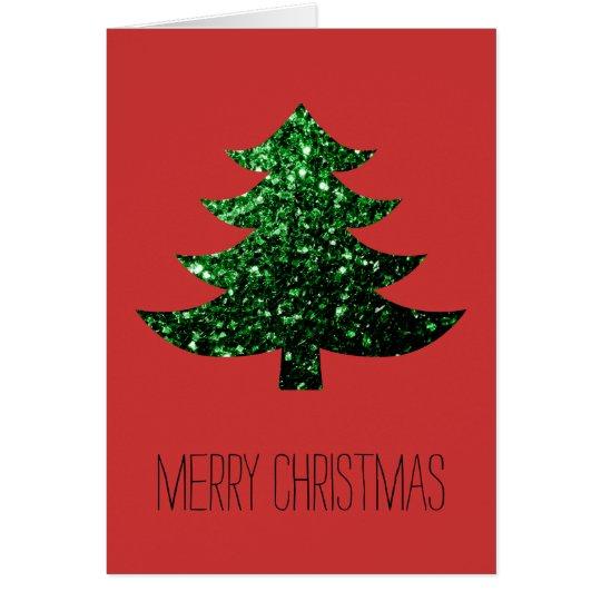 Tarjeta Personalice las chispas del verde del árbol de