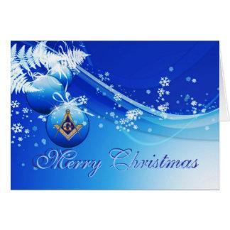 Tarjeta Personalice los saludos masónicos del navidad