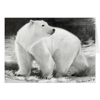 Tarjeta Personalizable del día de fiesta del oso polar