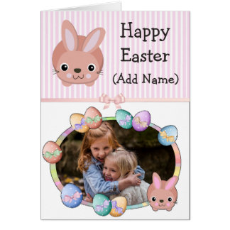 Tarjeta personalizada abuela feliz de Pascua