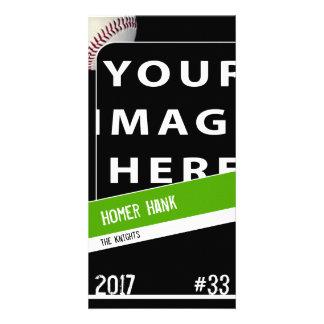Tarjeta personalizada de la foto del béisbol