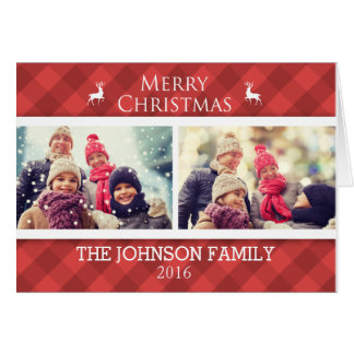 Tarjeta personalizada de la foto del navidad de la