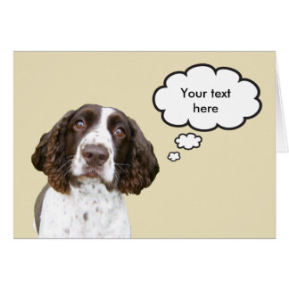 Tarjeta personalizada del perro de aguas de