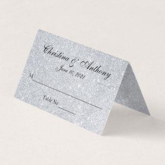 Tarjeta personalizada elegante de plata del lugar