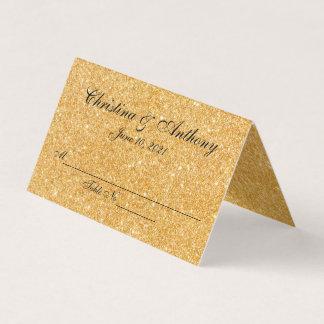 Tarjeta personalizada elegante del lugar del oro