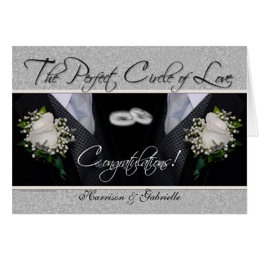 Tarjeta personalizada enhorabuena gay del boda