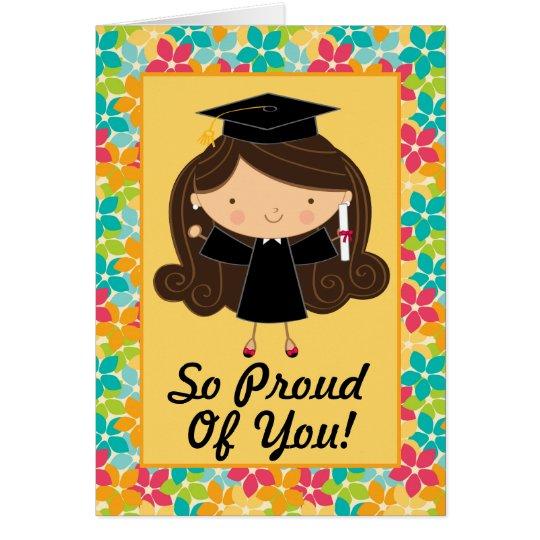 Tarjeta personalizada graduación linda de la