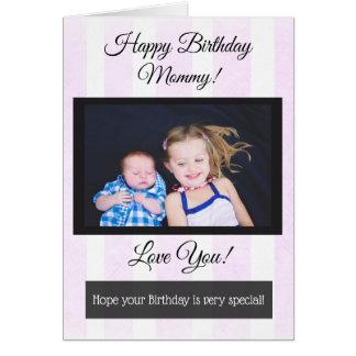 Tarjeta personalizada mamá de la foto del feliz