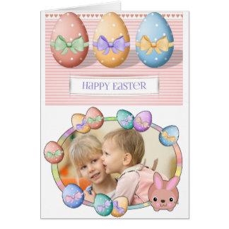 Tarjeta personalizada Pascua feliz
