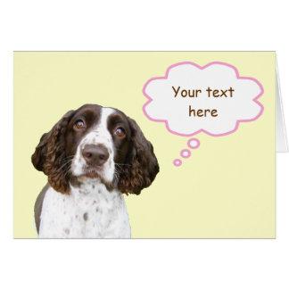 Tarjeta personalizada pastel del perro de aguas de