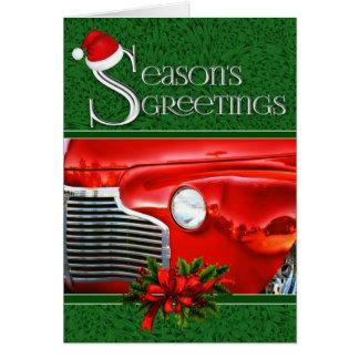 Tarjeta Personalizado automotriz clásico del navidad el |