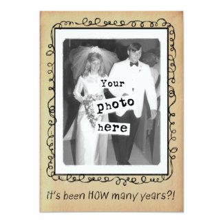 Tarjeta Personalizado de la fiesta de aniversario del boda