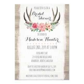 Tarjeta Personalizado nupcial de la ducha del boda rústico