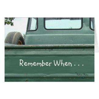 Tarjeta personalizar de la recogida Truck2 #1- del vintage