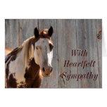 Tarjeta-personalizar del caballo y del barndoor tarjeta de felicitación