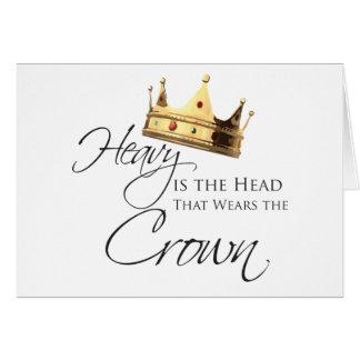 Tarjeta Pesada es la cabeza que lleva la corona