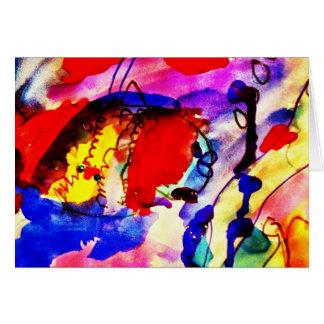Tarjeta Pescados de arco iris del arte abstracto de los