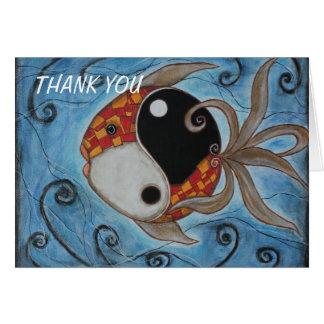 Tarjeta Pescados de Yin Yang