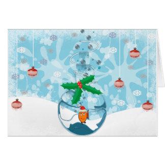 Tarjeta Pescados Splat del mascota del navidad