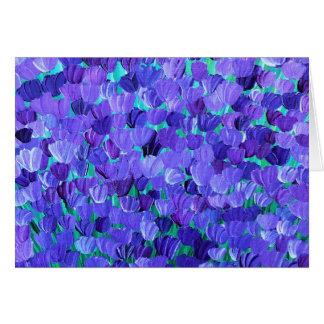 Tarjeta Pétalos púrpuras