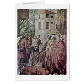 Tarjeta Peter distribuyó limosnas al pueblo por Masaccio