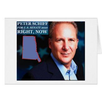 Tarjeta Peter Schiff para el senado