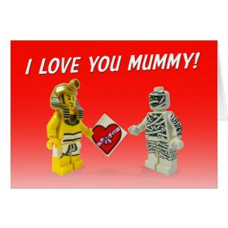 Tarjeta ¡Pharaoh que da los chocolates de la momia!