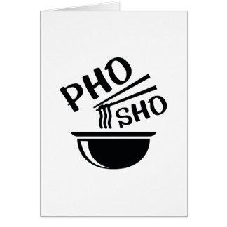 Tarjeta Pho Sho
